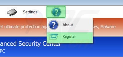 Removing Windows Antibreach Helper using registration key step 1