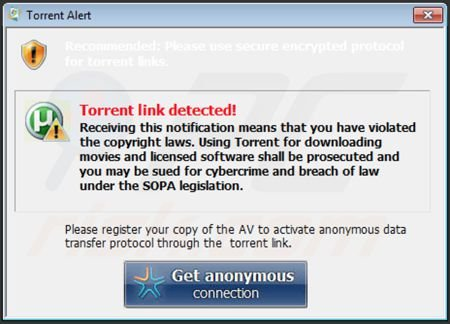 Windows Paramount Protection generating fake security warning messages