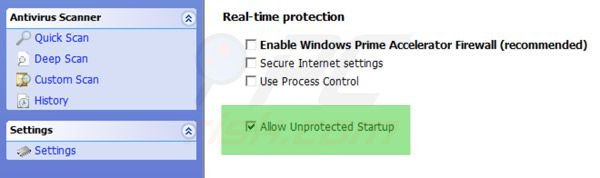 Windows Ultimate Booster unprotected startup