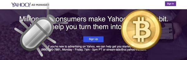 Bitcoin Malware Affects Yahoo! Users