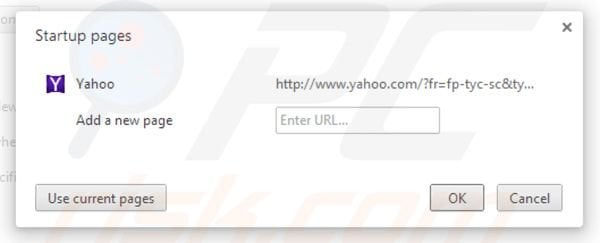 Removing Yahoo toolbar from Google Chrome homepage