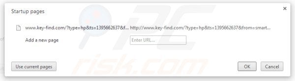 Removing key-find.com from Google Chrome homepage
