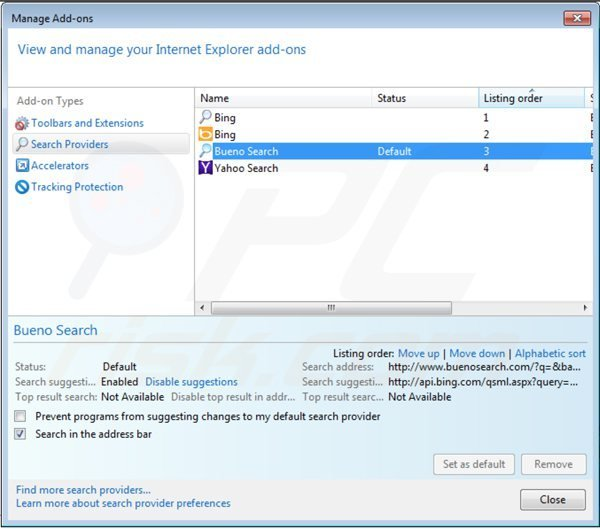 Removing royal-search.com from Internet Explorer default search engine