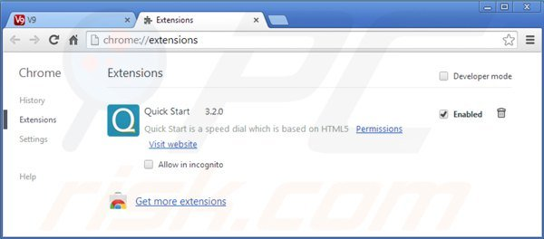 how to add and remove crome extensions
