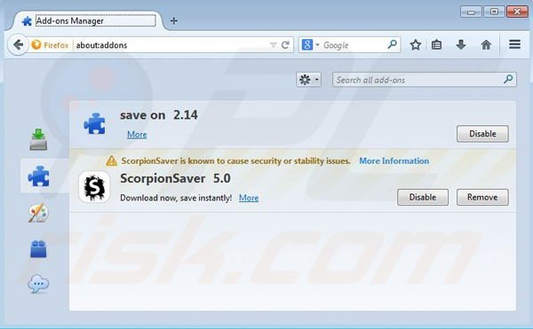Removing Coupon Downloader from Mozilla Firefox step 2