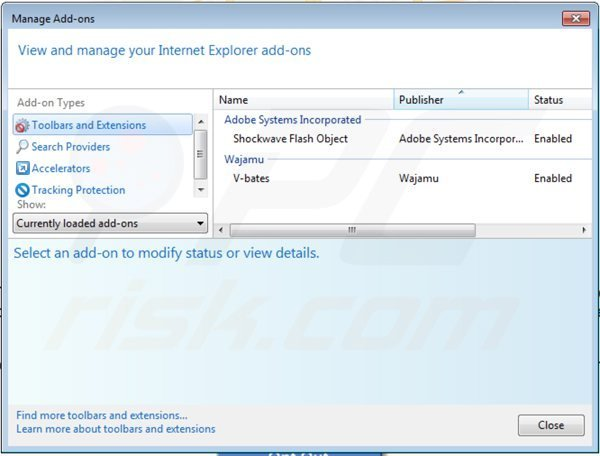 Removing interyield ads from Internet Explorer step 2
