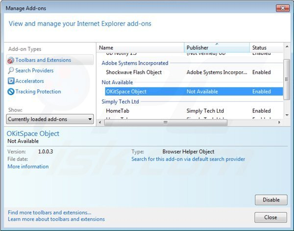 Removing rich media view from Internet Explorer step 2