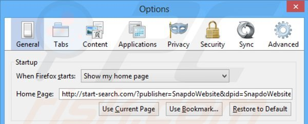 how to change search engine in mozilla firefox start page