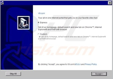 v9.com browser hijacker installer