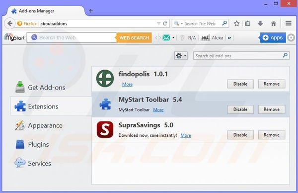 Removing Shopping Assistant from Mozilla Firefox step 2