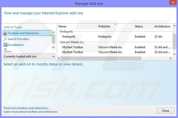 Removing Shopping Assistant from Internet Explorer step 2
