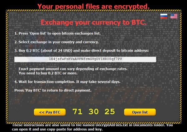 citroni ransomware exchange currency to bitcoins page