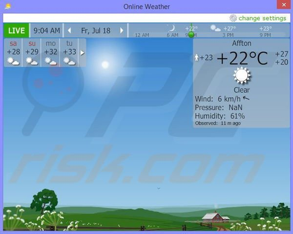 Online Weather application