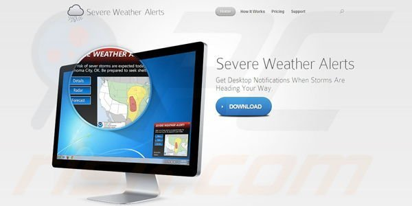 Severe Weather Alerts adware