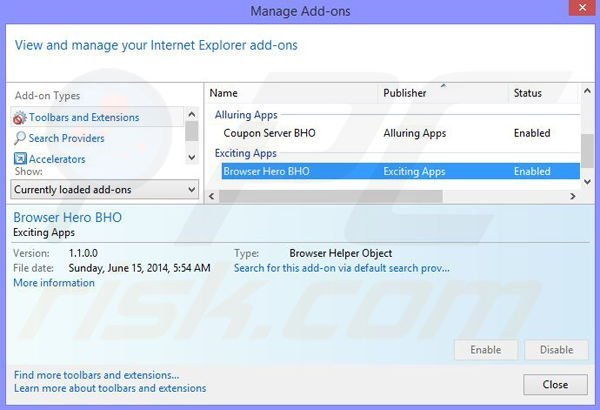 Removing Surf Safely ads from Internet Explorer step 2