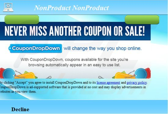coupondropdown adware installer
