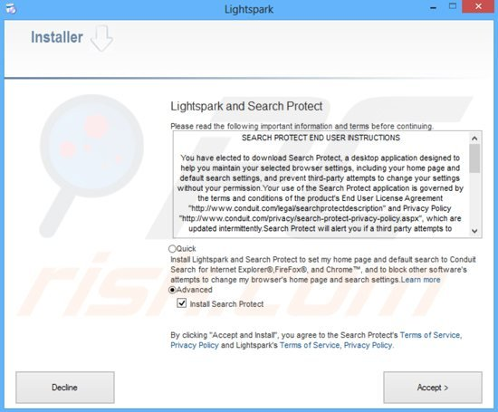 trovi.com browser hijacker installer sample 3