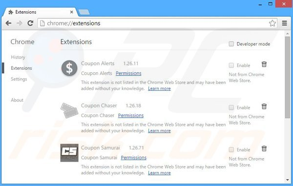 Removing TopBuyer ads from Google Chrome step 2