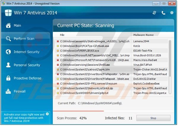 How to remove Win 7 Antivirus 2014 - removal guide (updated)
