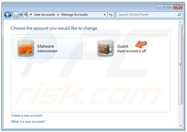 how to create a guest account on windows 7