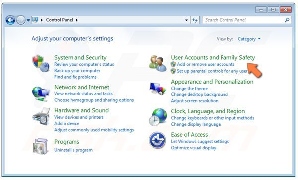 Windows 7- accessing