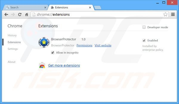 Removing search.safefinder.com related Google Chrome extensions