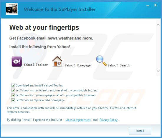 How to get rid of yahoo toolbar virus removal guide yahoo toolbar installer sample 4 ccuart Images