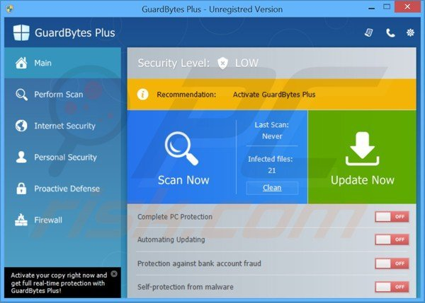 guardbytes plus main window