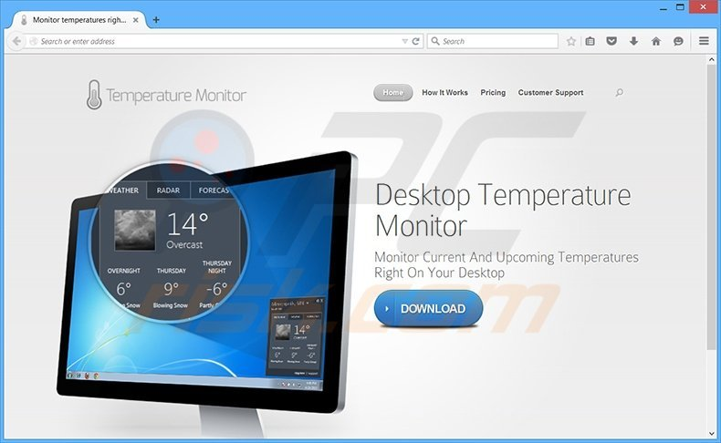 How to uninstall Desktop Temperature Monitor Ads - Virus removal