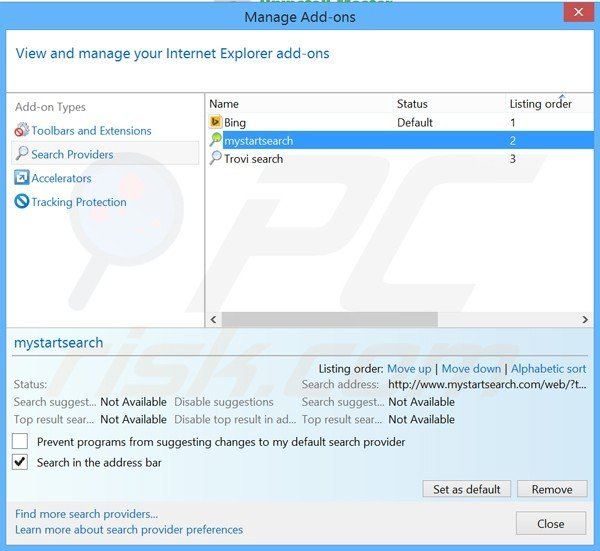 Removing Uninstall Master from Internet Explorer default search engine