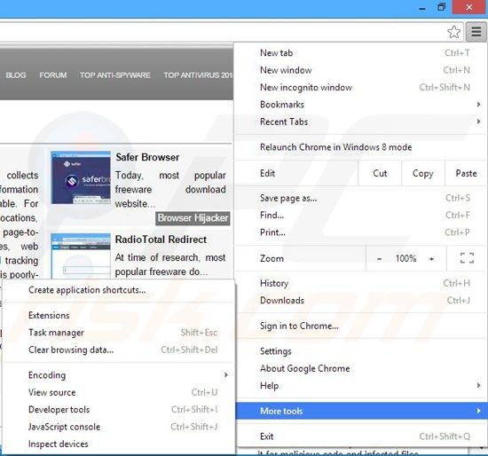 Removing FindingDiscounts ads from Google Chrome step 1