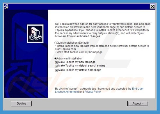 How to get rid of Taplika.com Browser Hijacker - Virus removal guide