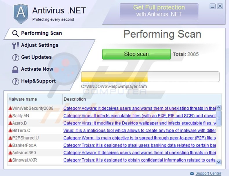 Antivirus.NET rogue program