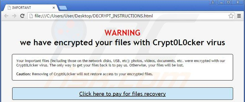 Crypt0L0cker ransomware - updated variant of torrentlocker