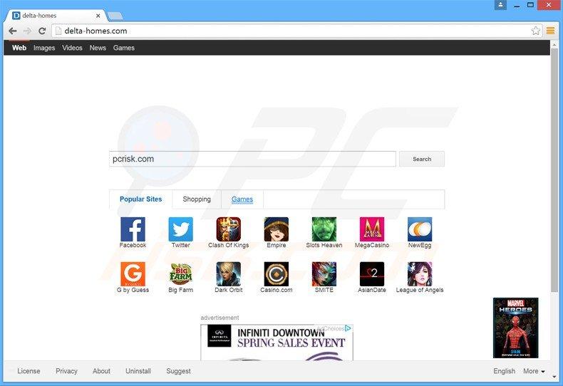 delta-homes.com browser hijacker