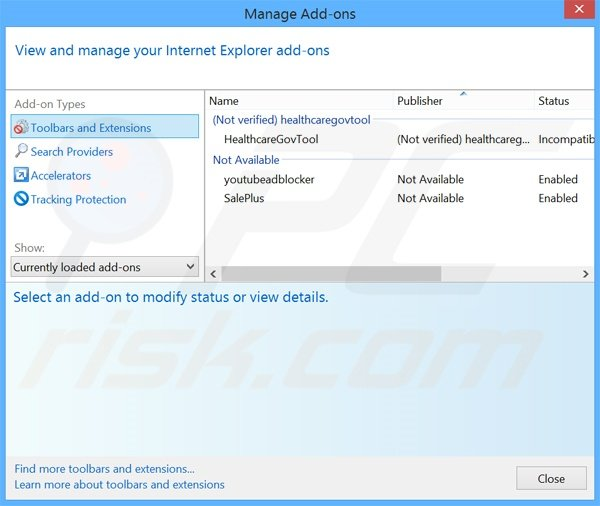 Removing FlashMall ads from Internet Explorer step 2