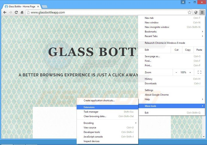 How to uninstall ads by glass bottle virus removal for How to remove bottom of glass bottle