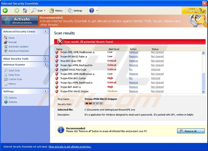 How to remove Internet Security Essentials - removal guide