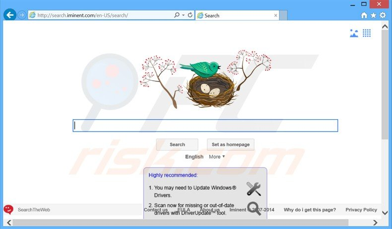 search.iminent.com browser hijacker