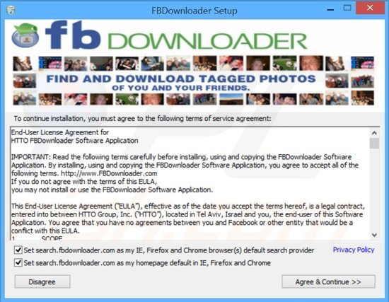 search.fbdownloader.com browser hijacker installer
