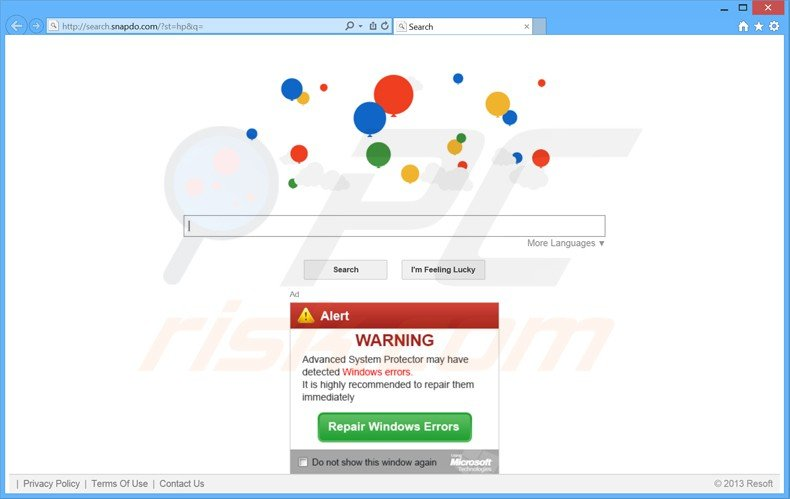 search.snapdo.com browser hijacker