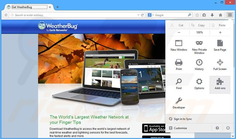 How to uninstall Ads by WeatherBug - virus removal