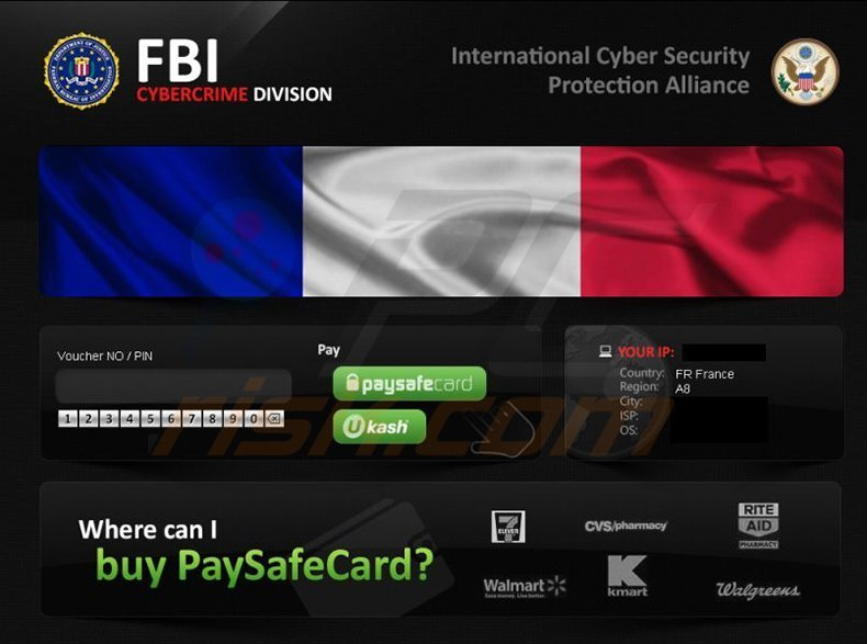 FBI Cybercrime Division and ICSPA ransomware virus