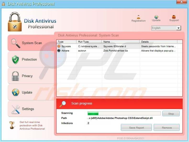 Disk Antivirus Professional rogue antivirus program