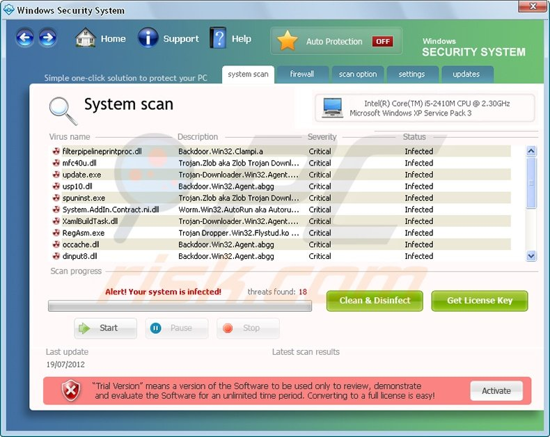 Windows Security System rogue program