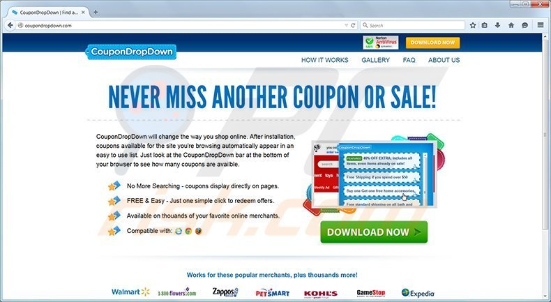 coupondropdown adware