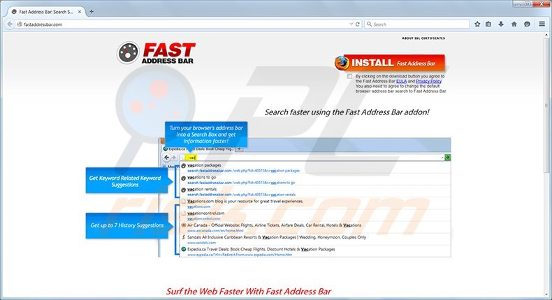 fast address bar adware