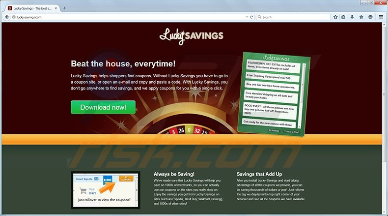 Lucky Savings adware