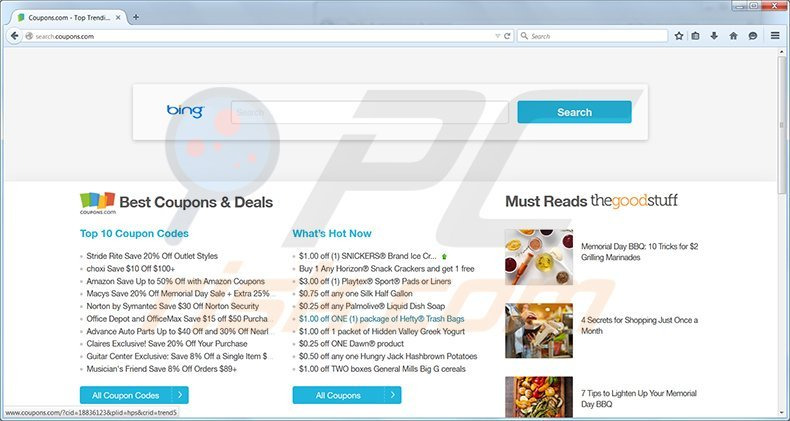 Search.coupons.com Removal Instructions