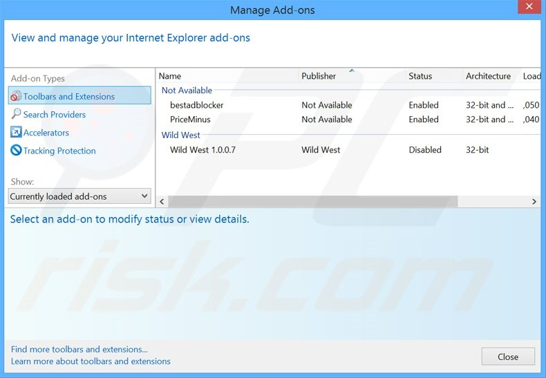 Removing Application Nation ads from Internet Explorer step 2